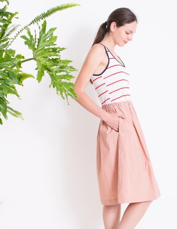 Alef Alef   אלף אלף - בגדי מעצבים   Sample   חצאית MAPLE אפרסק
