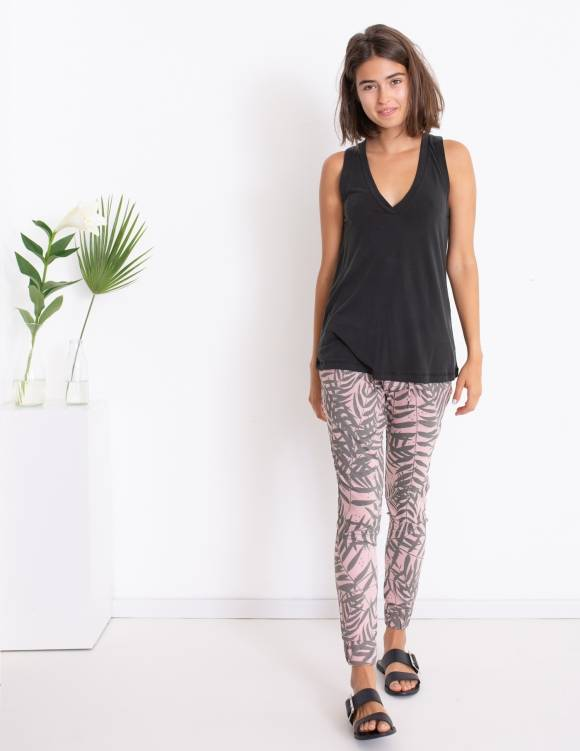 Alef Alef   אלף אלף - בגדי מעצבים   גופיית Violet שחור פחם