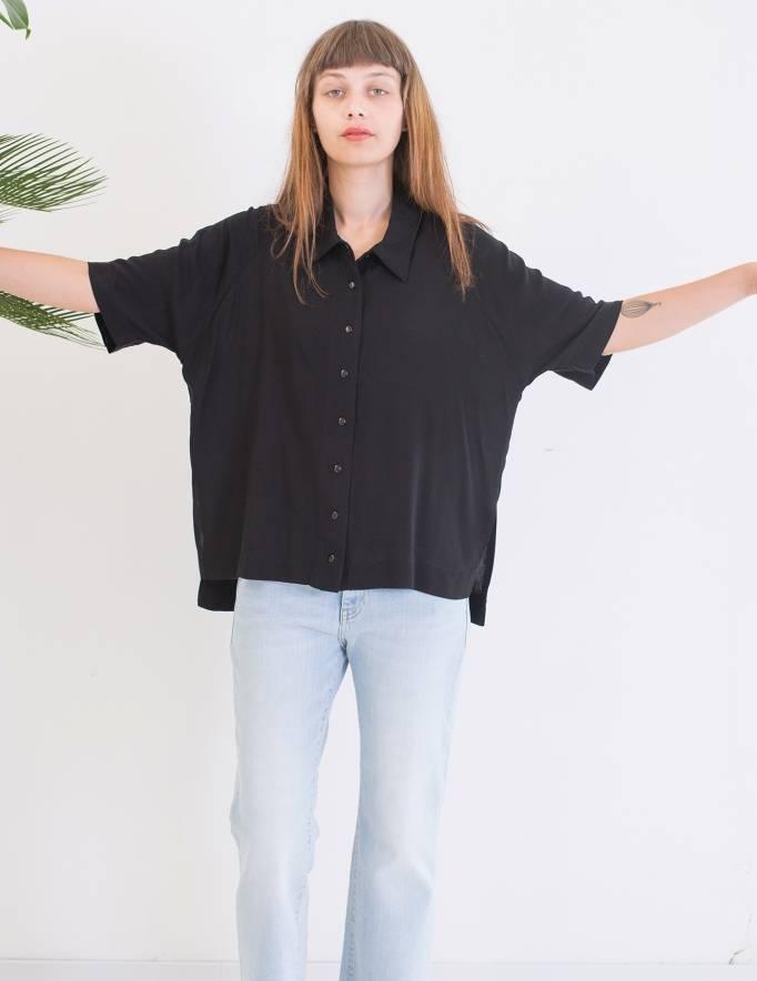 Alef Alef | אלף אלף - בגדי מעצבים | חולצת Bay שחור