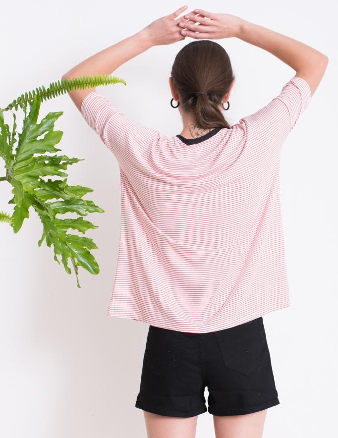 Alef Alef | אלף אלף - בגדי מעצבים | חולצת BUTTERCUP לבן פס אדום