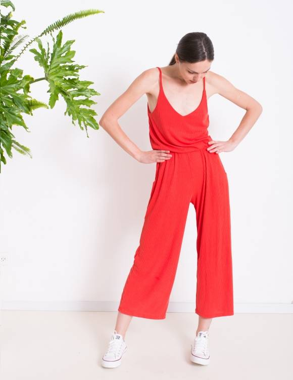 Alef Alef | אלף אלף - בגדי מעצבים | אוברול LILY אדום