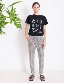 Alef Alef | אלף אלף - בגדי מעצבים | מכנסי ORCHID הדפס גיאומטרי