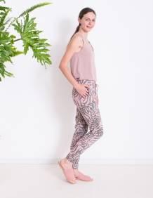 Alef Alef | אלף אלף - בגדי מעצבים | מכנסי ORCHID ורוד דפוס