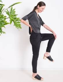 Alef Alef | אלף אלף - בגדי מעצבים | מכנסי ORCHID שחור