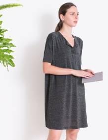 Alef Alef | אלף אלף - בגדי מעצבים | ארנק אליס אפור טקסטורה LADYBIRD
