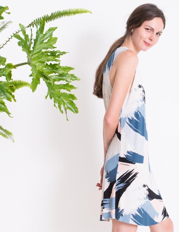 Alef Alef | אלף אלף - בגדי מעצבים | שמלת ROSEMARY משיכות צבע