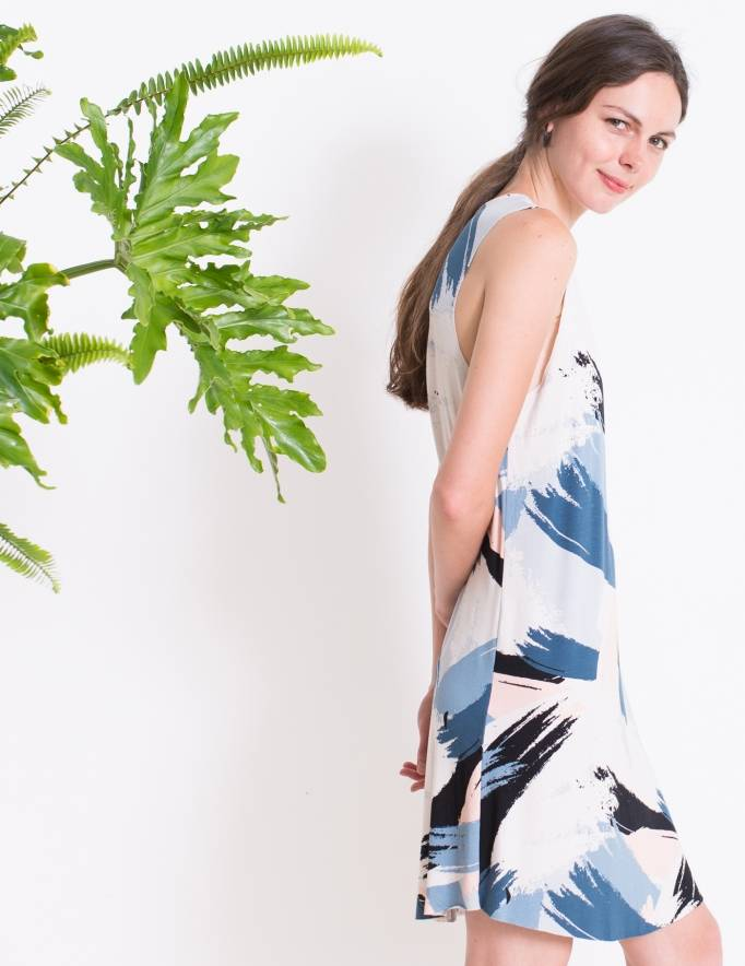 Alef Alef | אלף אלף - בגדי מעצבים | Sample|  שמלת ROSEMARY משיכות צבע