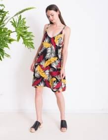 Alef Alef | אלף אלף - בגדי מעצבים | שמלת ROSE הדפס צבעוני