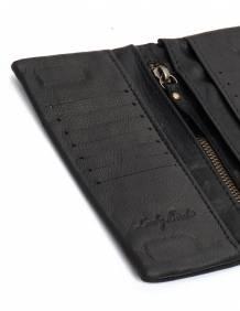 Alef Alef | אלף אלף - בגדי מעצבים | ארנק אליס שחור חלק LADYBIRD