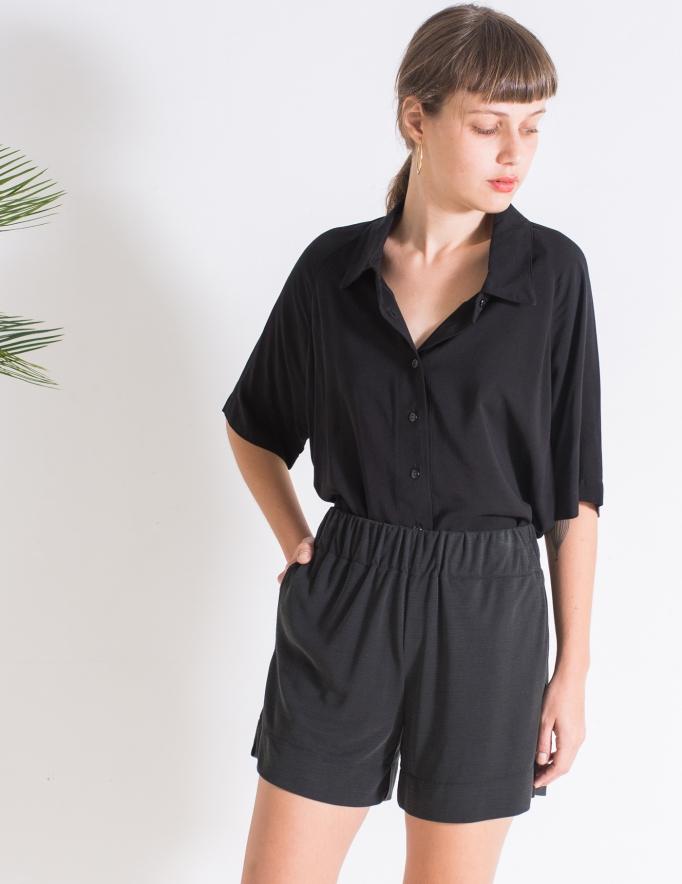 Alef Alef   אלף אלף - בגדי מעצבים   Sample   מכנסי Olive שחור פחם