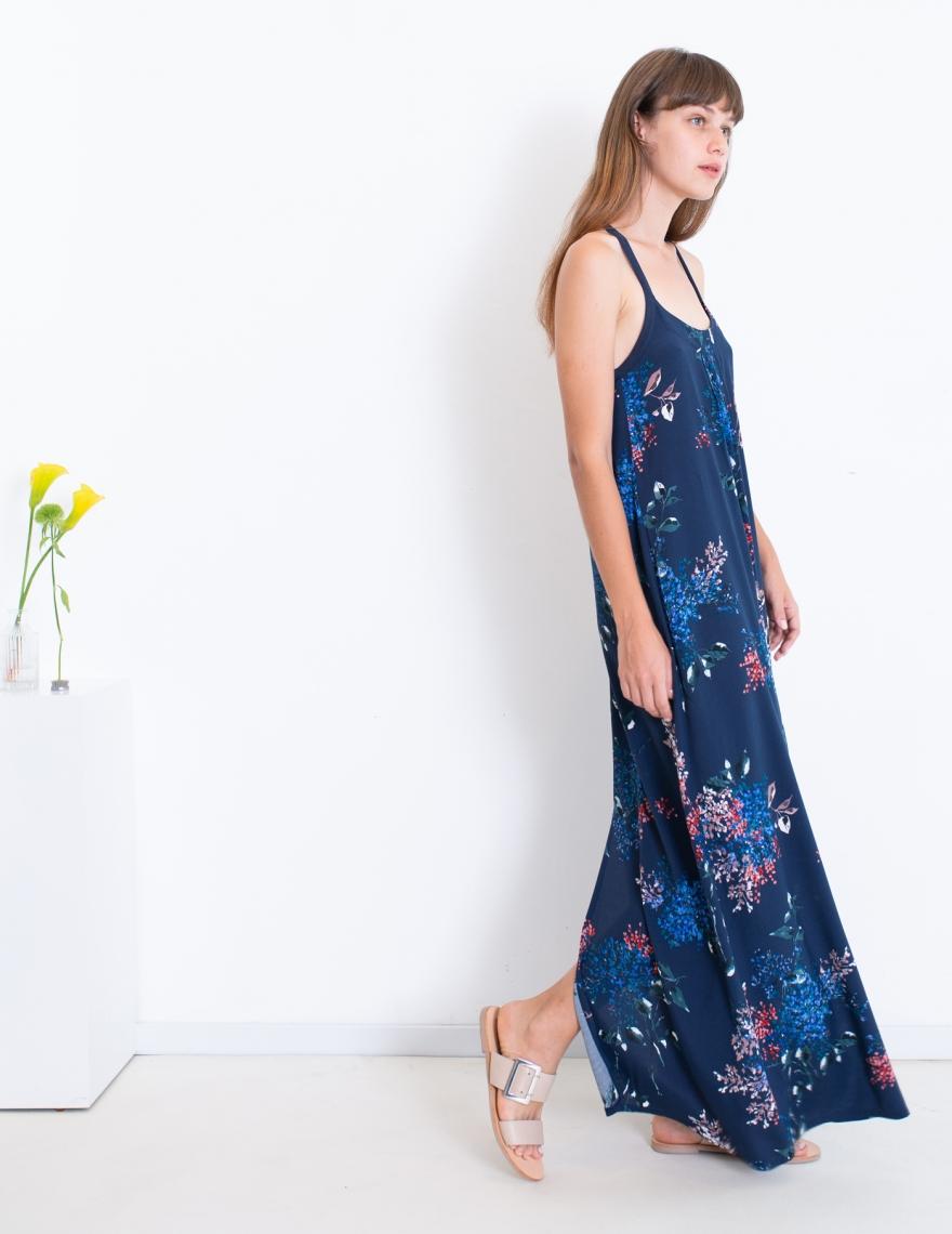 Alef Alef   אלף אלף - בגדי מעצבים   שמלת TULIP כחול פרחים