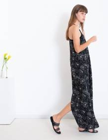 Alef Alef | אלף אלף - בגדי מעצבים | שמלת TULIP שחור פרחים