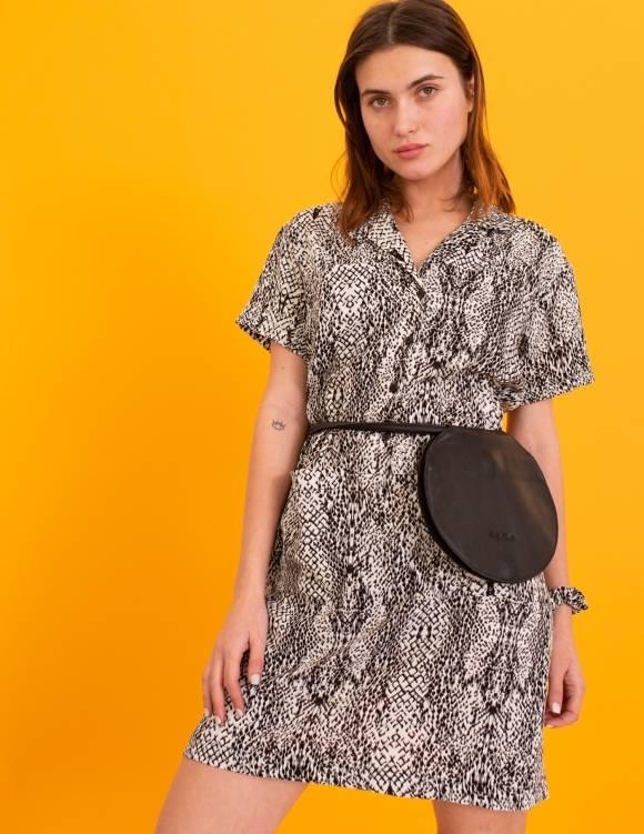 Alef Alef | אלף אלף - בגדי מעצבים | תיק Lady Bird גולי שחור