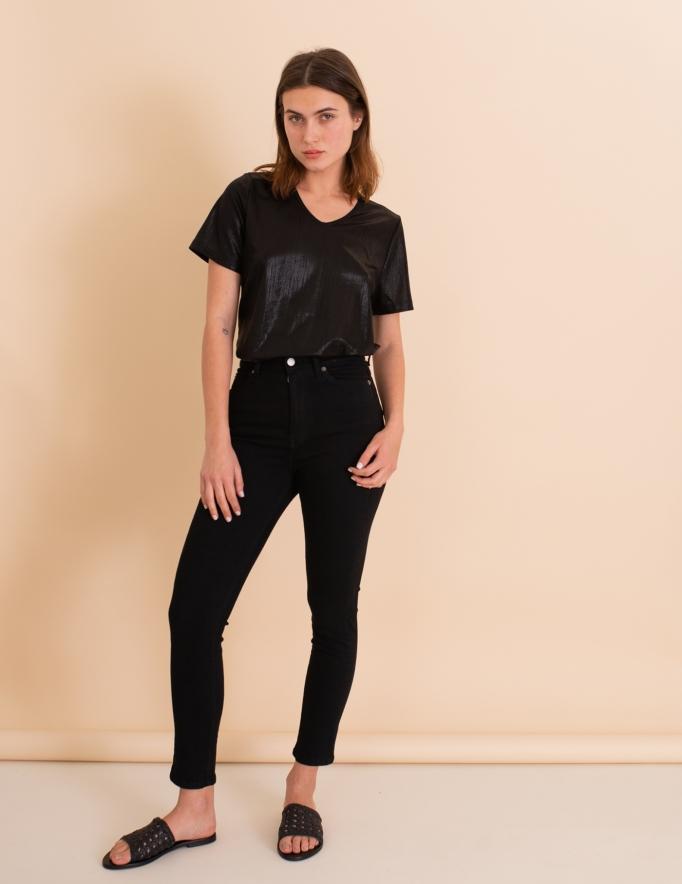 Alef Alef | אלף אלף - בגדי מעצבים | ג'ינס Dr. Denim Cropa Cabana שחור
