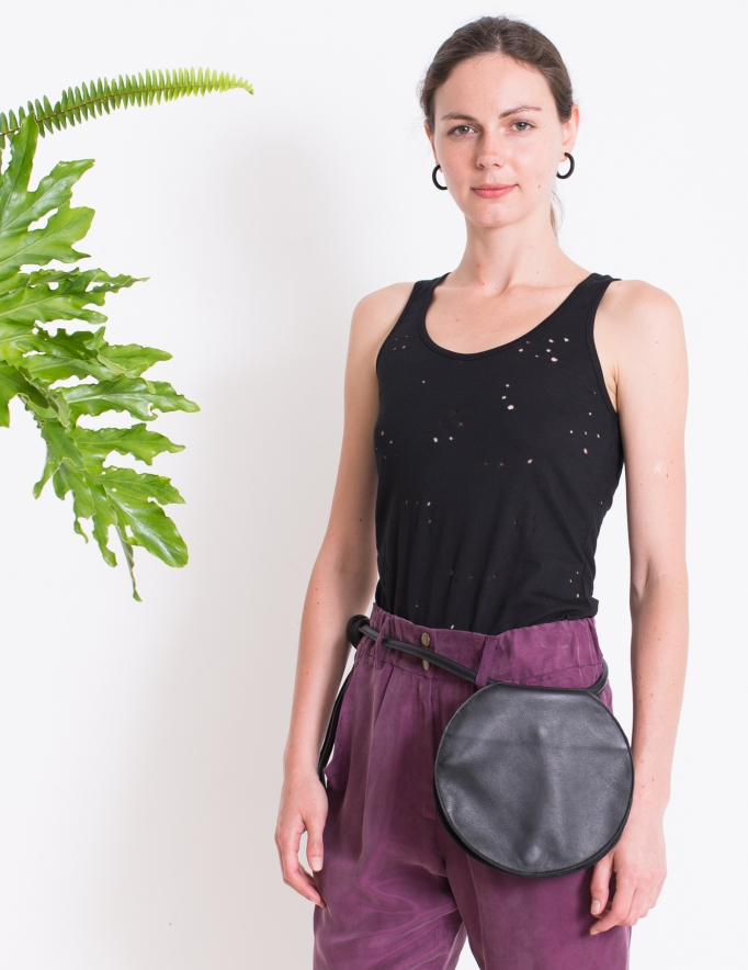 Alef Alef   אלף אלף - בגדי מעצבים   תיק Lady Bird גולי שחור