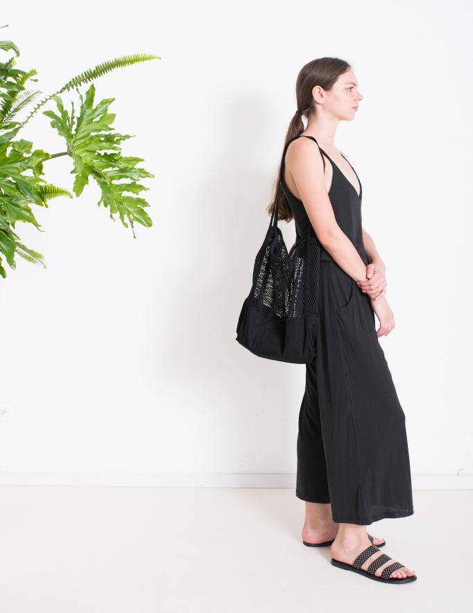 Alef Alef   אלף אלף - בגדי מעצבים   תיק רשת שחור