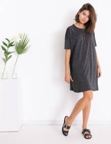 Alef Alef   אלף אלף - בגדי מעצבים   שמלת DAISY שחור כסף