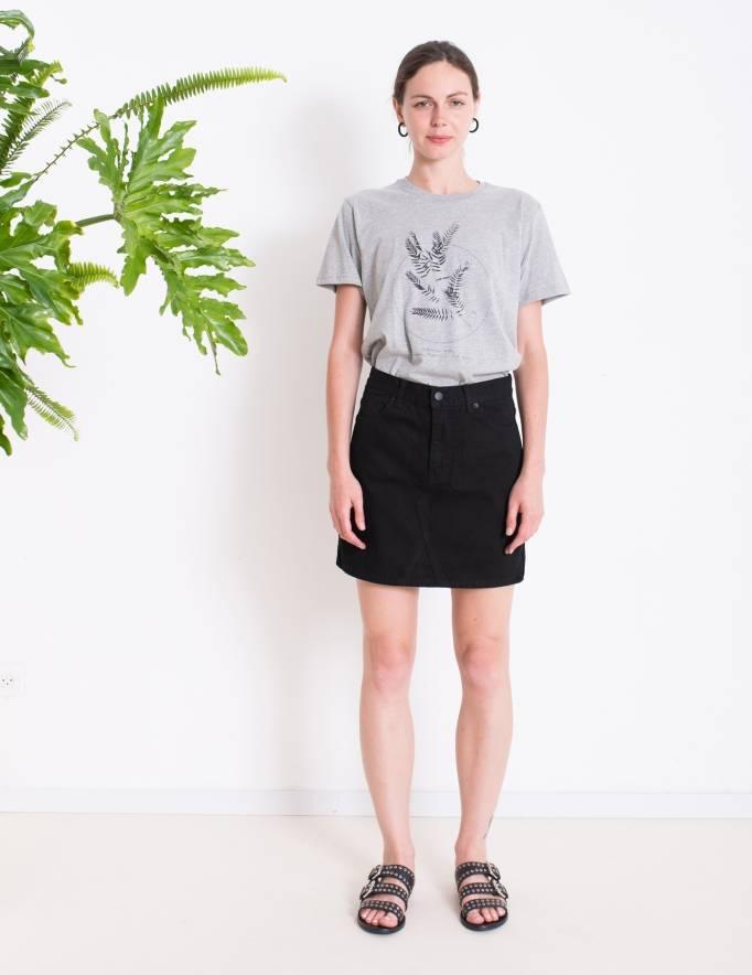 Alef Alef | אלף אלף - בגדי מעצבים | חצאית ADIAM DR DENIM שחור