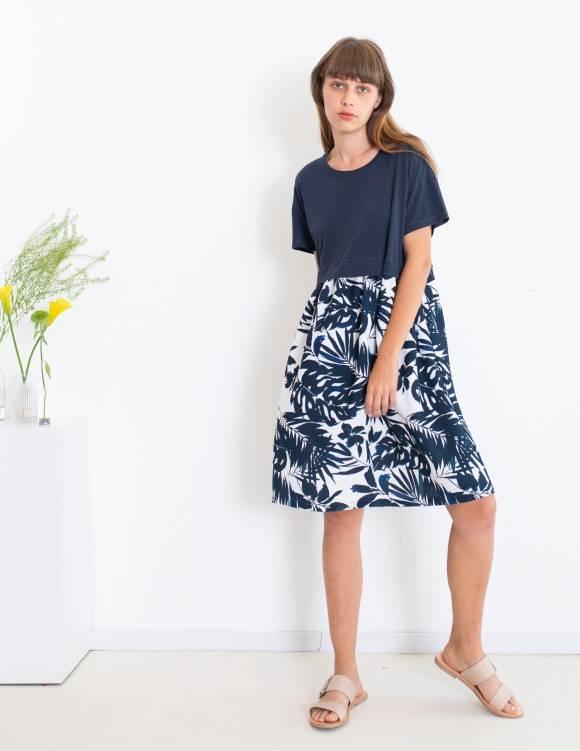 Alef Alef | אלף אלף - בגדי מעצבים | שמלת Veronica כחול פרחים