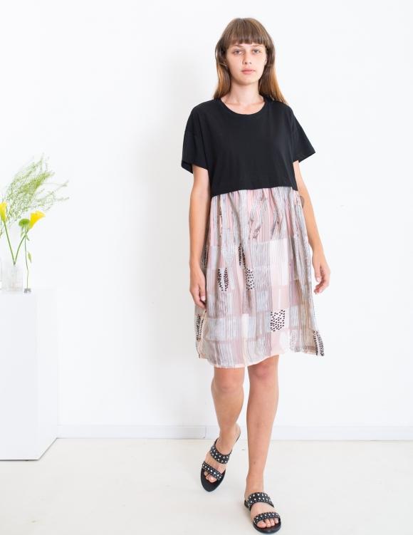Alef Alef | אלף אלף - בגדי מעצבים | שמלת Veronica שחור ורוד