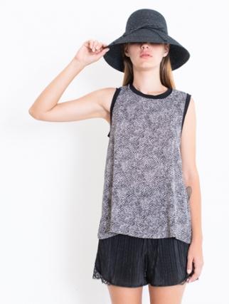 אלף אלף - בגדי מעצבים | שמלת DALIA לבן כתמים שחור - Alef Alef | אלף אלף