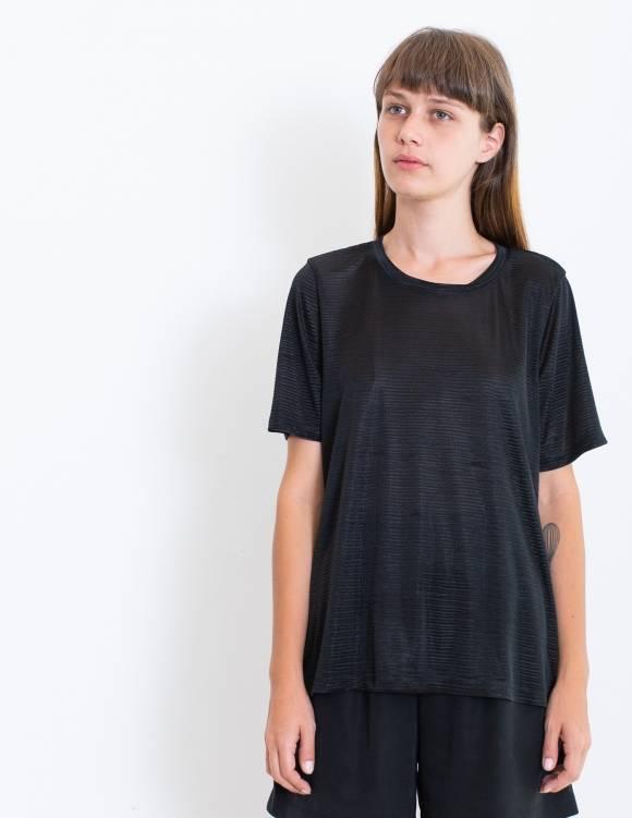 Alef Alef | אלף אלף - בגדי מעצבים | חולצת SAGE שחור פליסה
