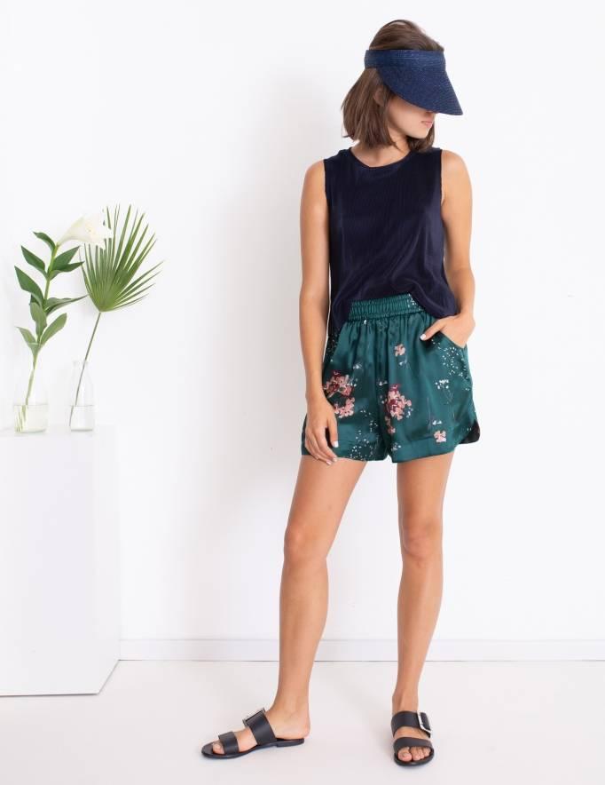 Alef Alef | אלף אלף - בגדי מעצבים | מכנסי Mila ירוק דפוס