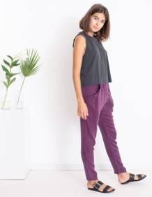 Alef Alef   אלף אלף - בגדי מעצבים   גופיית Little Mint  שחור פחם