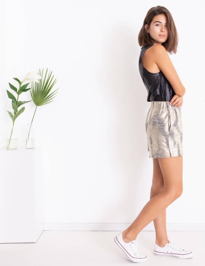 Alef Alef | אלף אלף - בגדי מעצבים | מכנסי Olive זהב