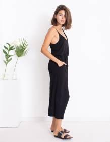 Alef Alef | אלף אלף - בגדי מעצבים | Sample | אוברול LILY שחור חלק