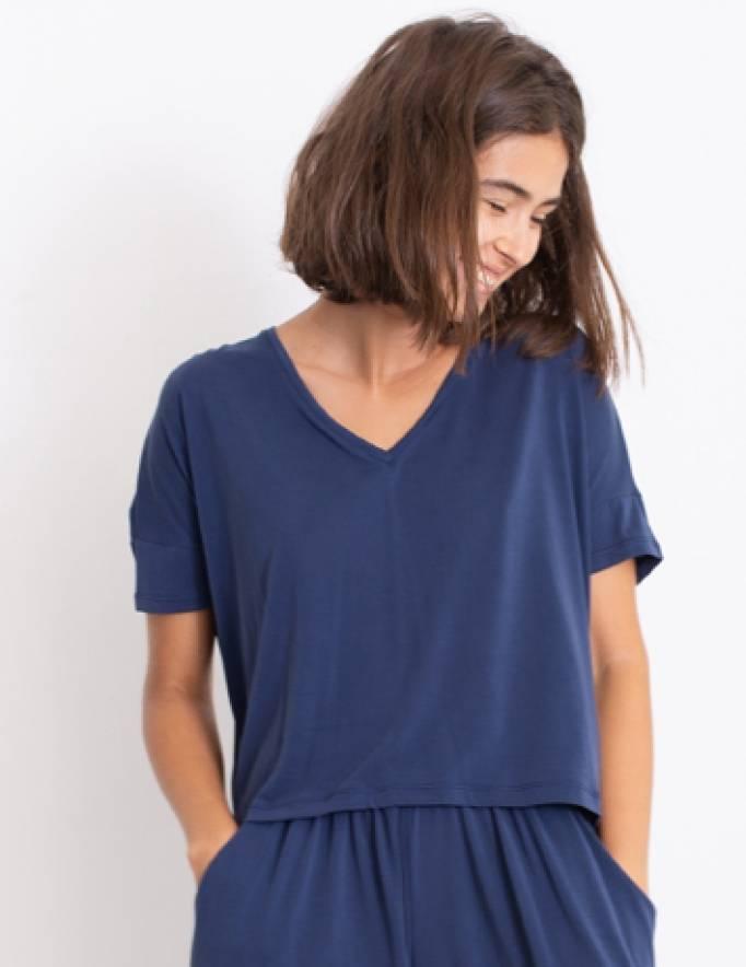 Alef Alef | אלף אלף - בגדי מעצבים | חולצת Lizzie כחול