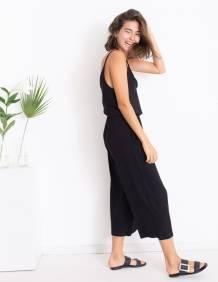 Alef Alef | אלף אלף - בגדי מעצבים | אוברול LILY שחור חלק
