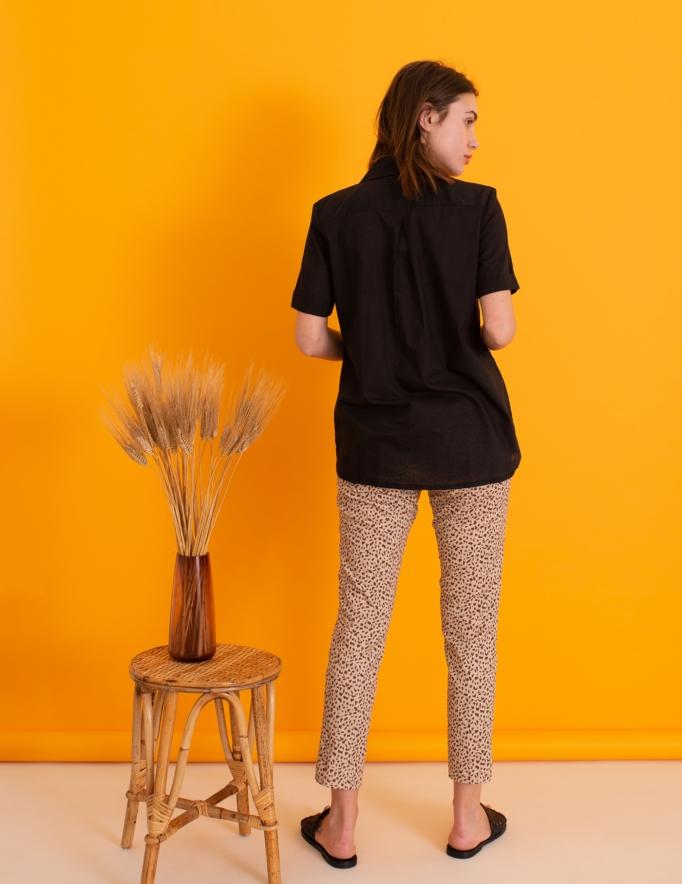 Alef Alef | אלף אלף - בגדי מעצבים | חולצת Lewis שחור דק