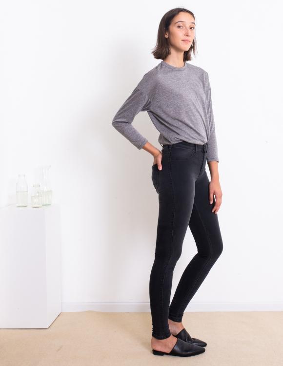 Alef Alef | אלף אלף - בגדי מעצבים | ג'ינס Dr. Denim Plenty שחור משופשף