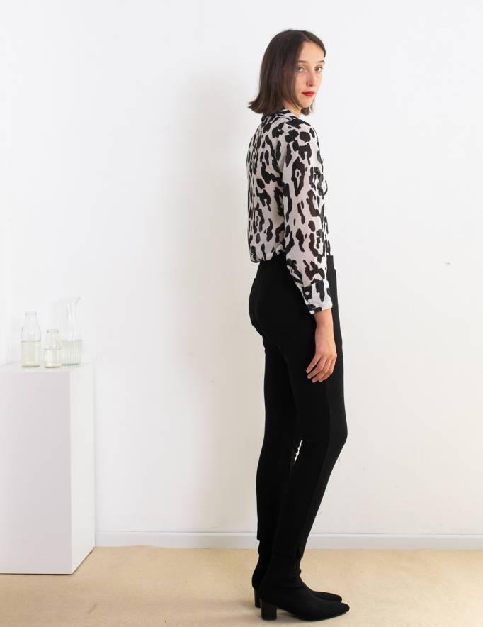 Alef Alef | אלף אלף - בגדי מעצבים | מכנסי Simone שחור