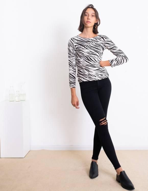 Alef Alef | אלף אלף - בגדי מעצבים | חולצת Nico זברה