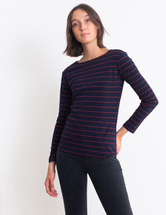 Alef Alef | אלף אלף - בגדי מעצבים | חולצת Nico פסים אדום-כחול