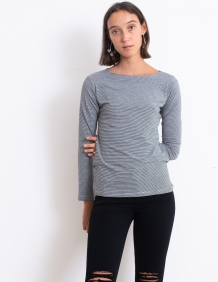 Alef Alef | אלף אלף - בגדי מעצבים | חולצת Nico פסים שחור לבן