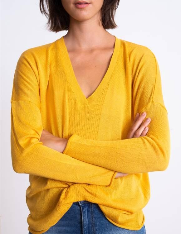 Alef Alef | אלף אלף - בגדי מעצבים | סוודר Dean חרדל