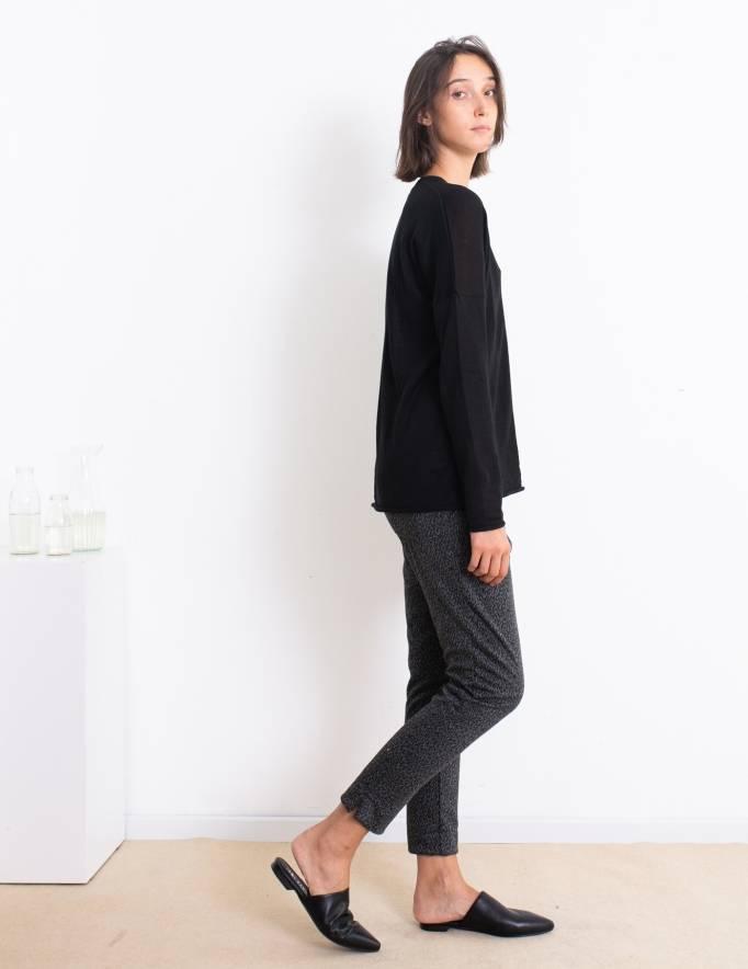 Alef Alef   אלף אלף - בגדי מעצבים   סוודר Dean שחור