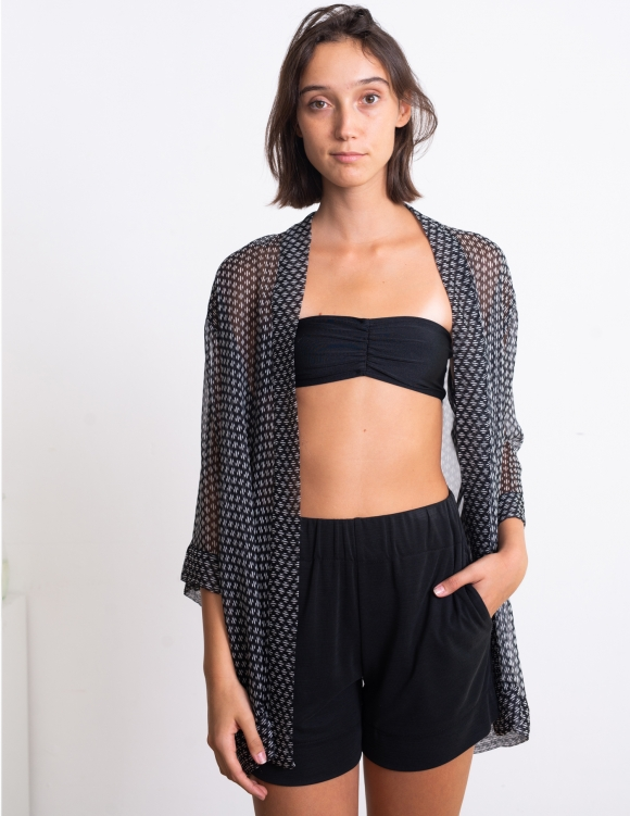 Alef Alef | אלף אלף - בגדי מעצבים | חזיית סטרפלס Neeo שחור