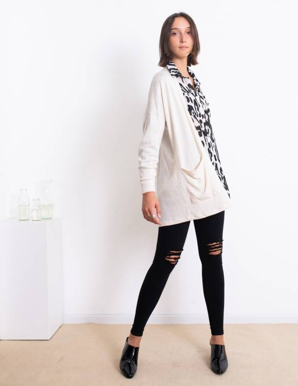 Alef Alef | אלף אלף - בגדי מעצבים | עליונית Kate לבן