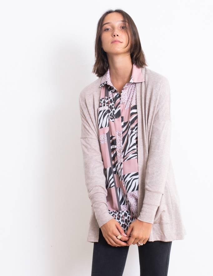 Alef Alef | אלף אלף - בגדי מעצבים | עליונית Kate מוקה