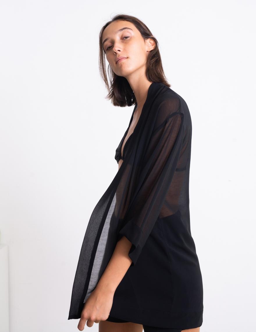 Alef Alef | אלף אלף - בגדי מעצבים | קימונו Lauren שחור