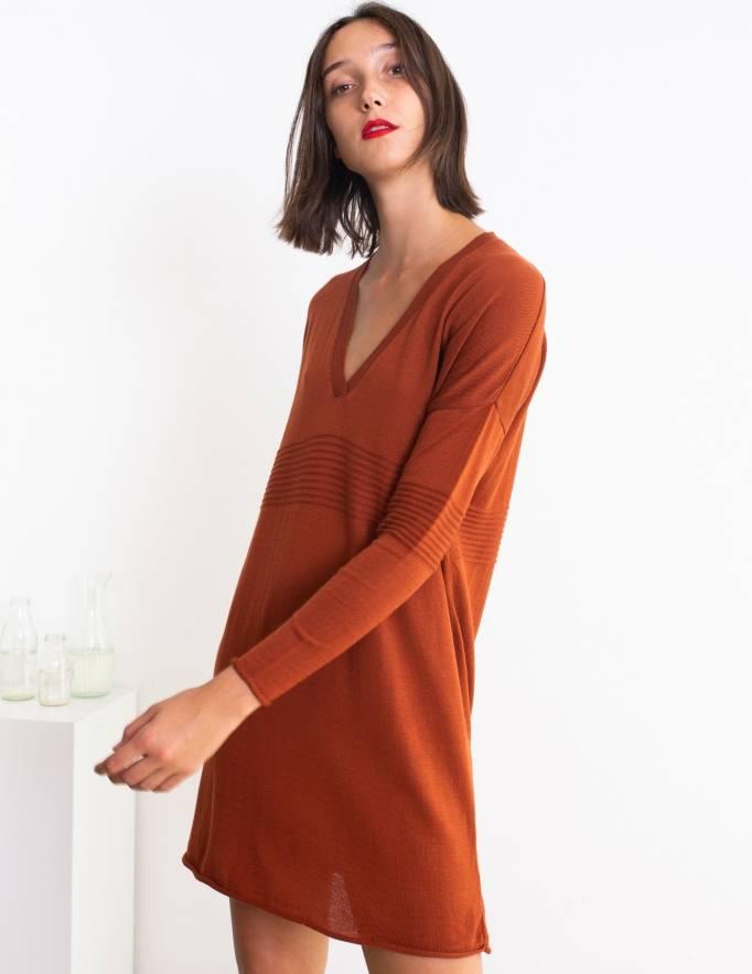 Alef Alef | אלף אלף - בגדי מעצבים | שמלת Audry חמרה