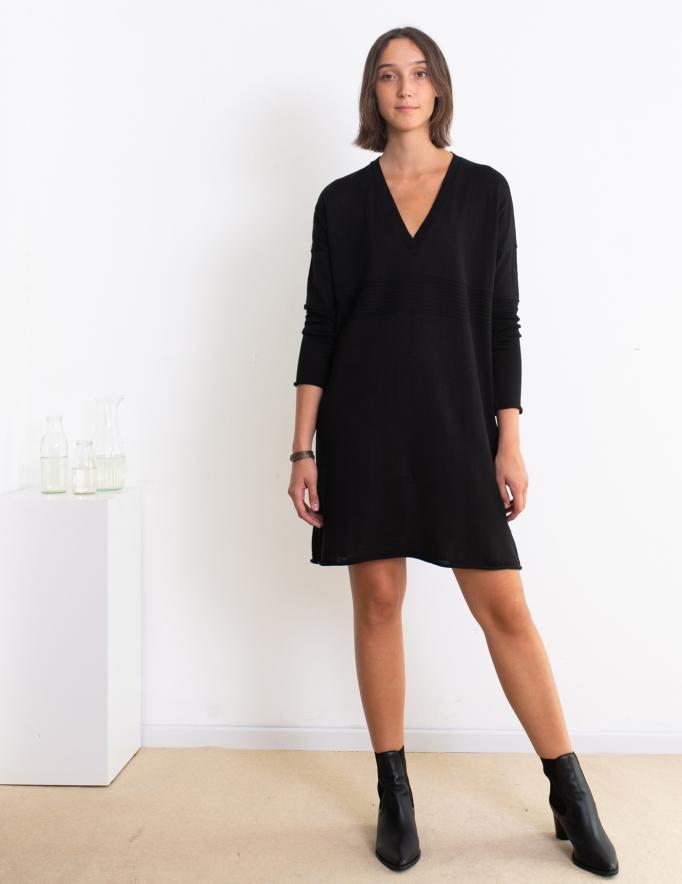 Alef Alef   אלף אלף - בגדי מעצבים   שמלת Audry שחור
