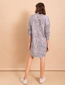 Alef Alef | אלף אלף - בגדי מעצבים | שמלת Nina הדפס חברבורות