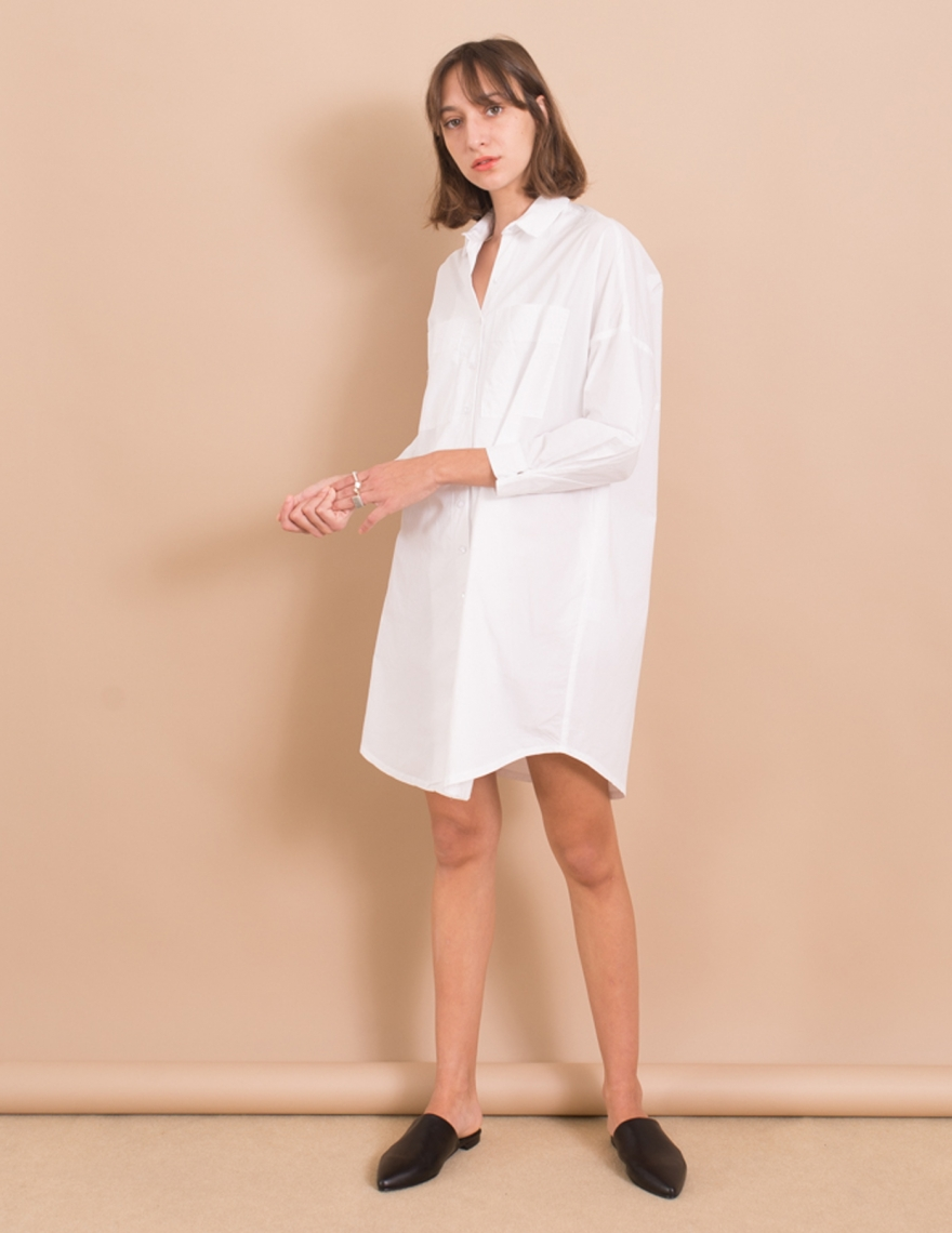 Alef Alef   אלף אלף - בגדי מעצבים   שמלת Nina לבן