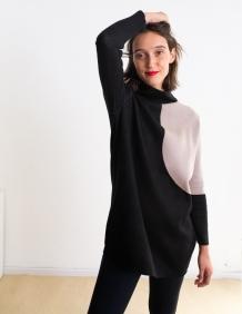 Alef Alef | אלף אלף - בגדי מעצבים | סוודר Rick שחור/ אפור