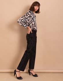 Alef Alef | אלף אלף - בגדי מעצבים | מכנסי Paul שחור מבריק